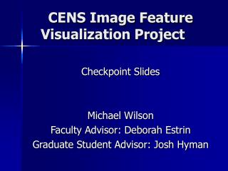 CENS Image Feature Visualization Project
