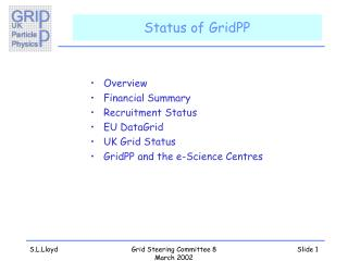 Status of GridPP