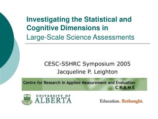 Investigating the Statistical and Cognitive Dimensions in  Large-Scale Science Assessments