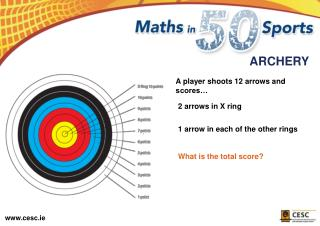 A player shoots 12 arrows and scores…