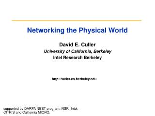 Networking the Physical World