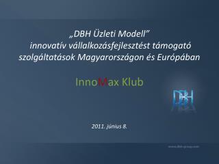 A DBH Üzleti Modell
