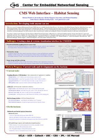 CMS Web Interface – Habitat Sensing