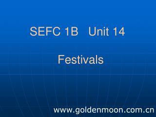 SEFC 1B   Unit 14   Festivals