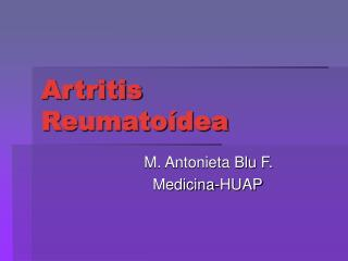 Artritis Reumatoídea