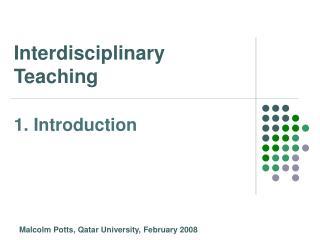Interdisciplinary Teaching
