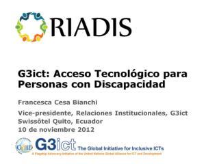 G3ict: Acceso Tecnológico para Personas con Discapacidad