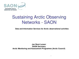 Sustaining Arctic Observing Networks - SAON