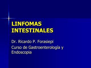 LINFOMAS INTESTINALES