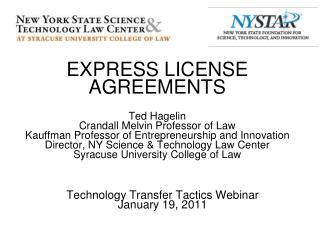 Technology Transfer Tactics Webinar January 19, 2011