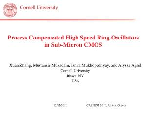 Process Compensated High Speed Ring Oscillators in Sub-Micron CMOS
