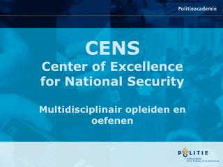 CENS Center of Excellence for National Security