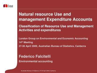 London Group on Environmental and Economic Accounting 14 th  Meeting