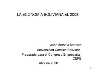 LA ECONOMÍA BOLIVIANA EL 2008