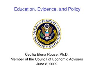 Education, Evidence, and Policy