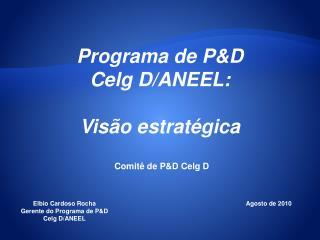 Programa de P&D Celg D/ANEEL:  Visão estratégica