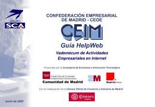Con la colaboración de la  Cámara Oficial de Comercio e Industria de Madrid