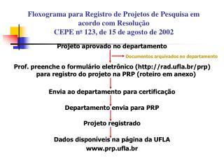 Projeto aprovado no departamento