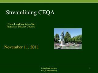 Streamlining CEQA