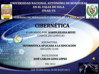 UNIVERSIDAD NACIONAL AUTÓNOMA DE HONDURAS EN EL VALLE DE SULA UNAH-VS