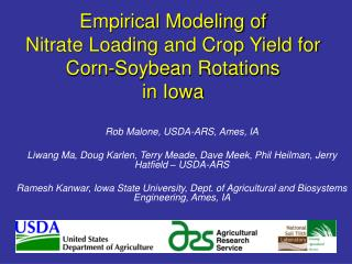 Empirical Modeling of  Nitrate Loading and Crop Yield for Corn-Soybean Rotations  in Iowa