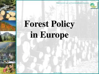 Forest Policy in Europe