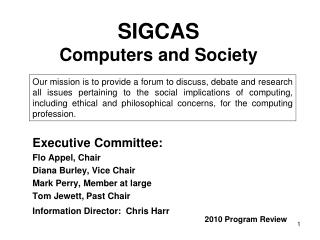 SIGCAS Computers and Society