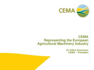 The European agricultural machinery industry
