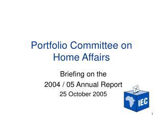 Portfolio Committee on