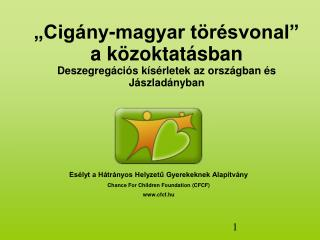 """""""Cigány-magyar törésvonal"""" a közoktatásban Deszegregációs kísérletek az országban és Jászladányban"""