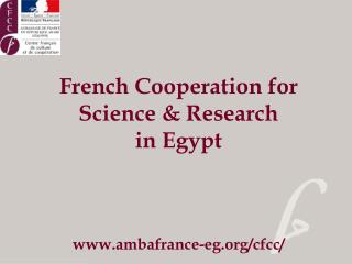 French Cooperation for Science & Research  in Egypt ambafrance-eg/cfcc/