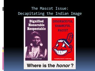 The Mascot Issue: Decapitating the Indian Image