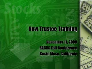 New Trustee Training