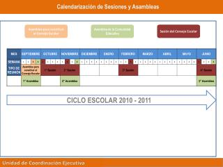 CICLO ESCOLAR 2010 - 2011