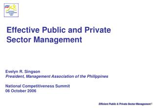 Effective Public and Private  Sector Management