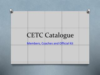 CETC Catalogue