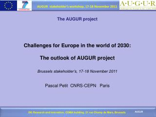 The AUGUR  project