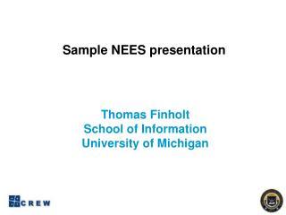 Sample NEES presentation