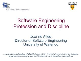 Software Engineering Profession and Discipline
