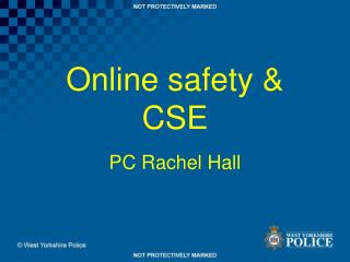 Online safety & CSE