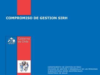 COMPROMISO DE GESTION SIRH
