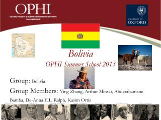 Bolivia  OPHI Summer  School  2013