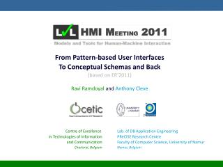 From Pattern-based User Interfaces To Conceptual Schemas and Back