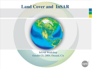 Land Cover and  InSAR