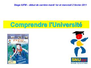 Stage IUFM – début de carrière mardi 1er et mercredi 2 février 2011