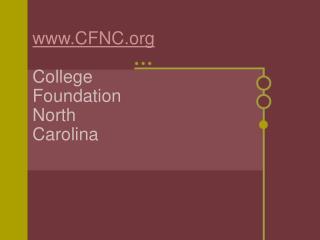 CFNC College Foundation North Carolina
