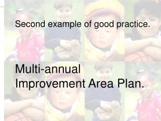 Second example of good practice. Multi-annual Improvement Area Plan.