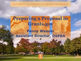 Preparing a Proposal in Grants