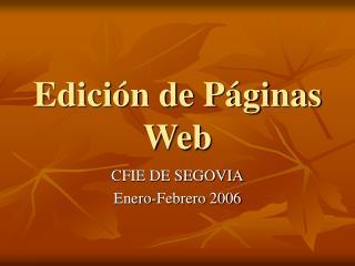 Edición de Páginas Web