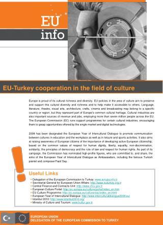 EUROPEAN UNION DELEGATION OF THE EUROPEAN COMMISSION TO TURKEY